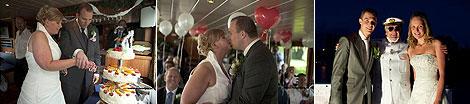 Huwelijksbootje Party-cruises, trouwen op het water